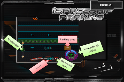 Screenshot iSpaceship Parking